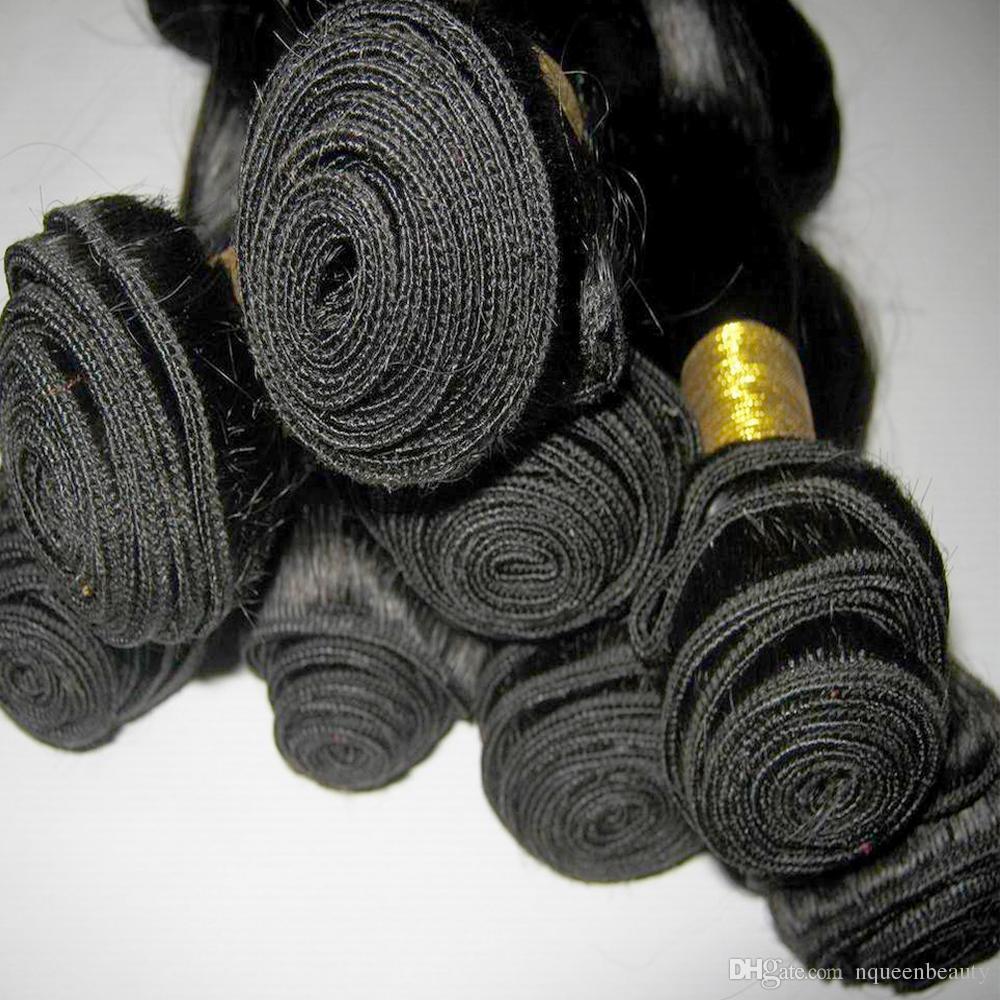 مل / الكثير غير المجهزة الشعر الماليزي موجة الجسم تمديد نسج bundlles المنتجات شعر الانسان