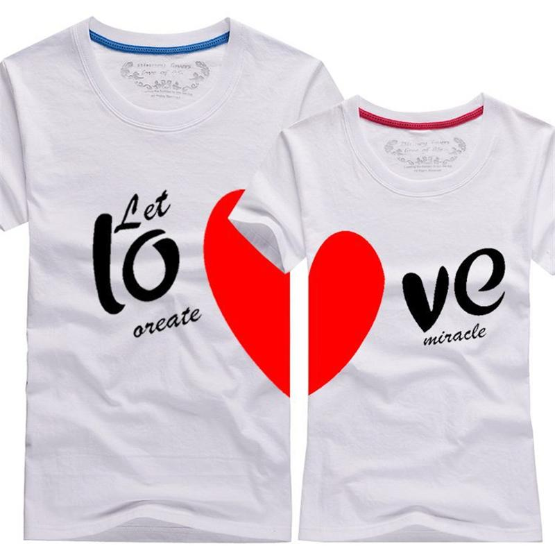 c6f5b3adb Wholesale Couples Men & Women Heart LOVE T Shirts Printing Cotton Couple  Lovers T Shirt,T Shirt Couple Lovers Couple T Shirt LC105 Buy T Shirts  Online T ...
