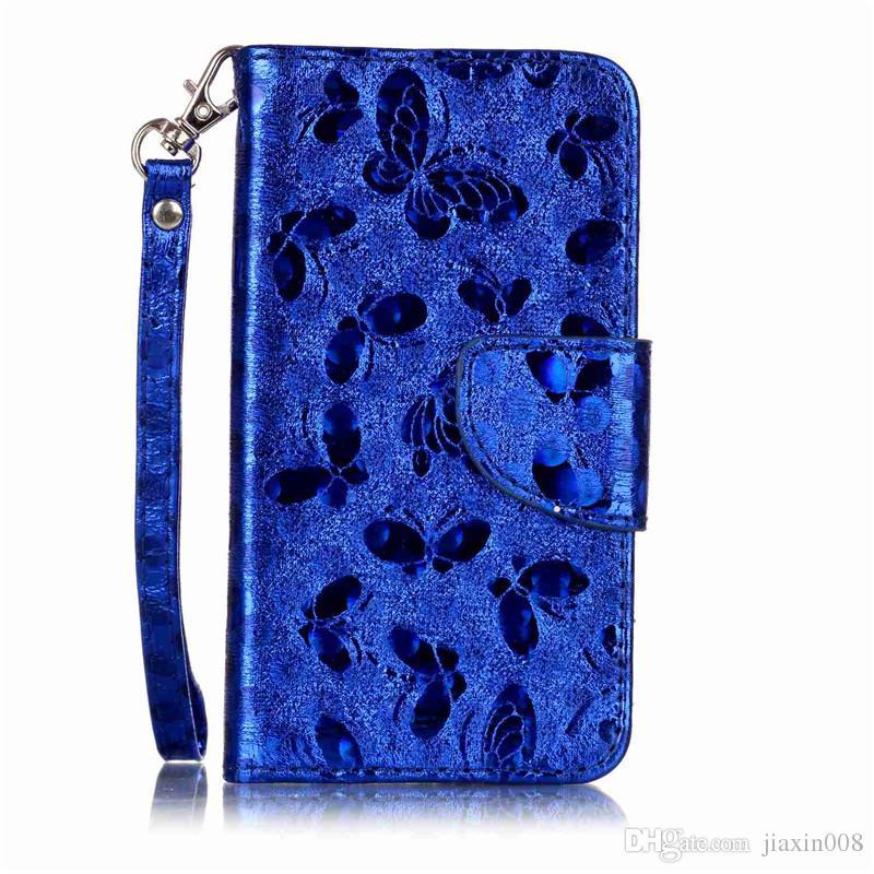 Mode PU Ledertasche Für fundas Samsung Galaxy J120 J1 2016 Handytasche Laser Carving Schmetterling Brieftasche Stand Telefon Fall