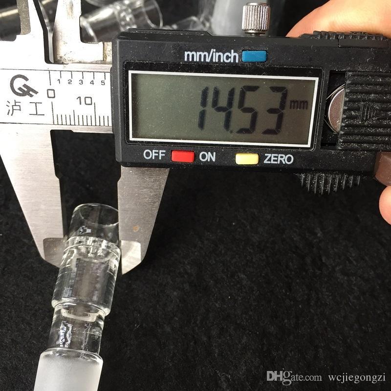 Bocchino portautensili in vetro Attacco acqua gorgogliatore 14MM Oil Rig Honey Straw PVHEGonG Adattatore acqua GonG Solo Air