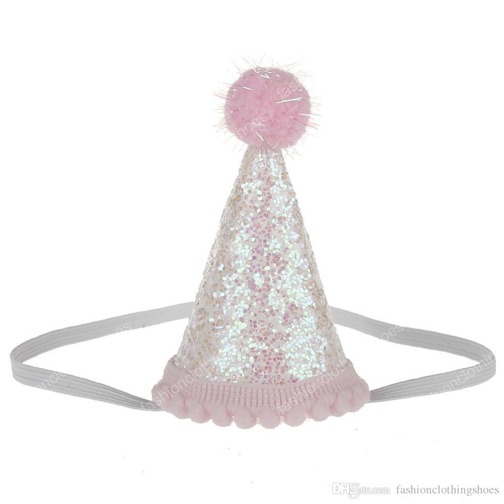 بتلات GirlsInfant مصغرة تتويج قبعة مطرزة حديثي الولادة عصائب زهرة فتاة 1 قبعة عيد ميلاد الحزب اكسسوارات للشعر