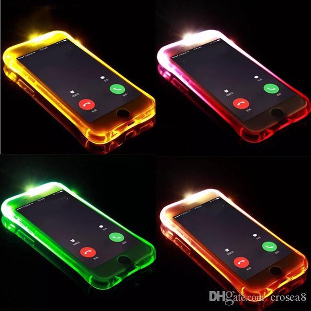 6920892cbdd Fundas Universales Para Moviles Nueva Funda De Teléfono Fashional Led Flash  Para IPhone 6s 6 Plus 7 8 Plus X XR XS MAX Light Flash Llamada De Aviso  Funda ...