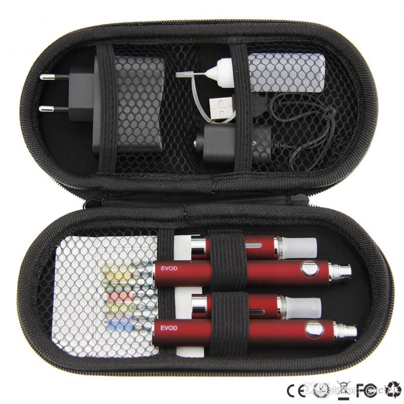 Mt3 evod kits duplos mt3 kits grandes duplo mt3 atomizador bateria evod 510 thread usb carregador evod mt3 zipper case kits