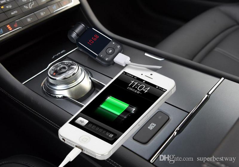 BT26 voiture Bluetooth kit mains libres voiture MP3 sans fil transmetteur FM chargeur allume-cigare pour iPhone 7 HTC Android bc06 mis à niveau CAB160