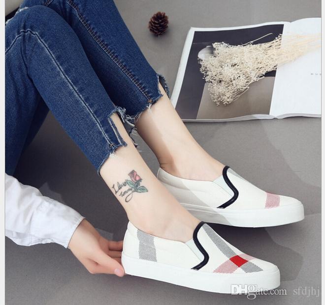 26e1bafea69e4 Compre 2017 Mujeres De La Moda De Primavera Zapatos Zapatos De Lona  Impresos Zapatos De Tacón Plano De Mujer Holgazanes Perezosos A  21.32 Del  Sfdjhj ...