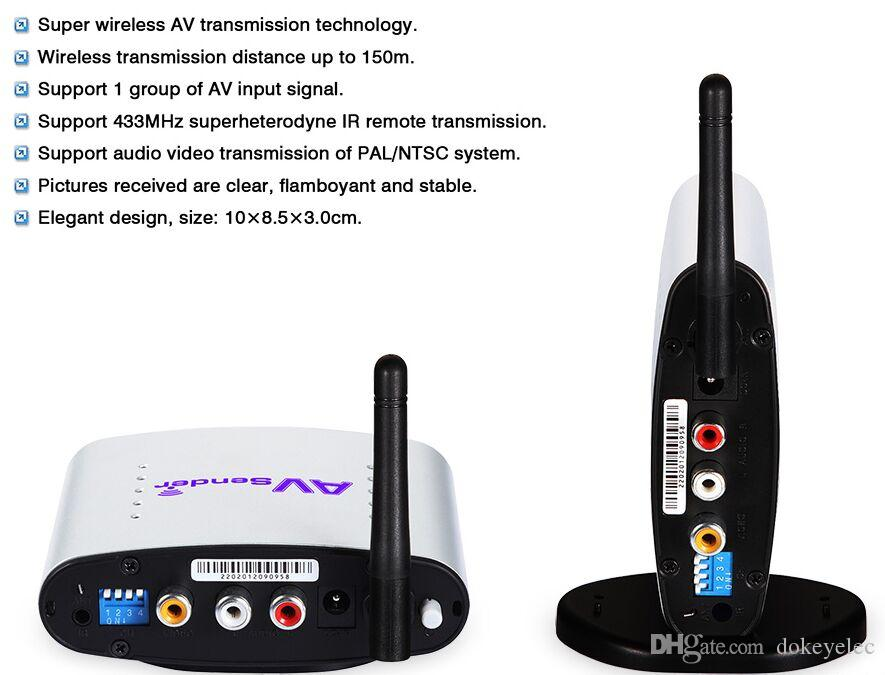 PAT220 150m 2.4GHz STB Remote Room to Room Wireless TV to TV Transceiver Analog Digital wireless Video transmitter Sender Receive IR Remote