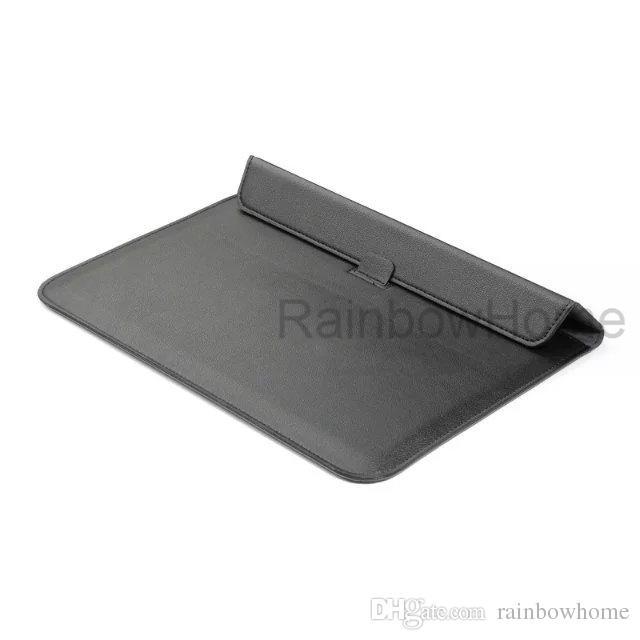Bolsa em couro premium PU Bolsa de Transporte para Portátil MacBook 12 13 15 polegadas Air Pro Retina macia luva de protecção Envelope saco à prova de choque