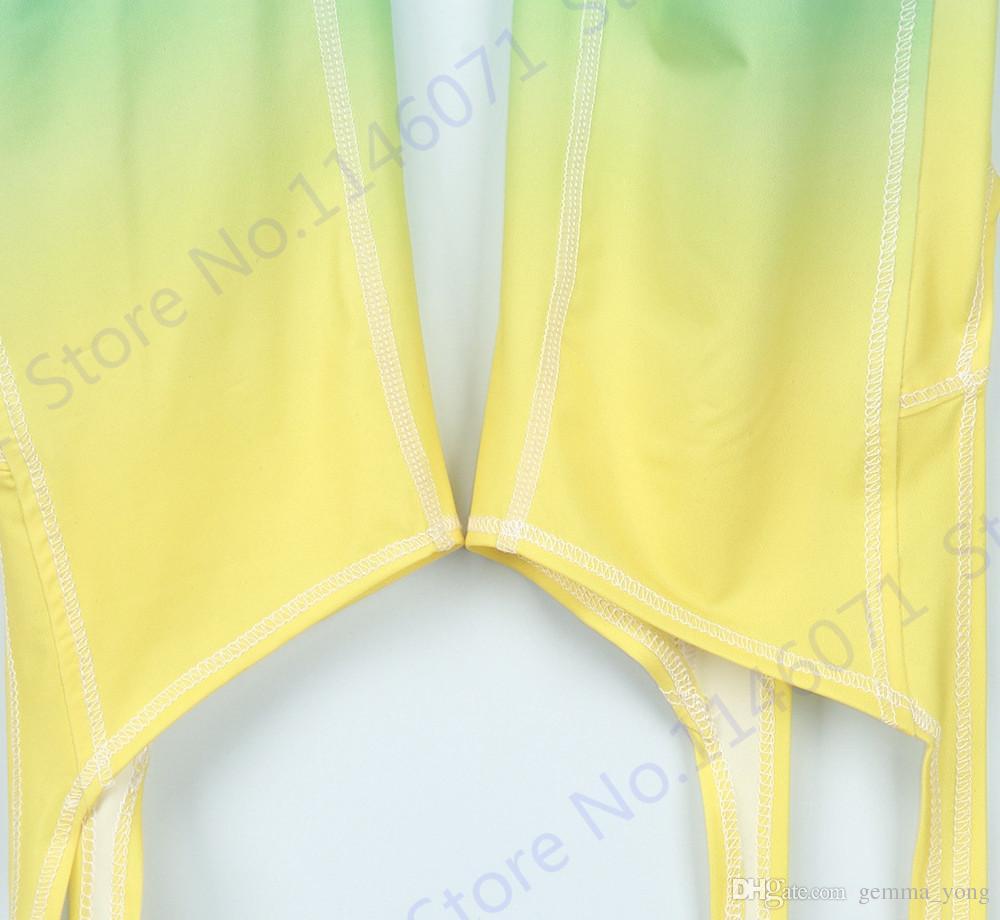 Gradient Couleur Ballet Jambières Infinie Turnout Minceur Taille Haute Yoga Pantalon Capris Dance Spirit Bandage Collants Skinny Femme