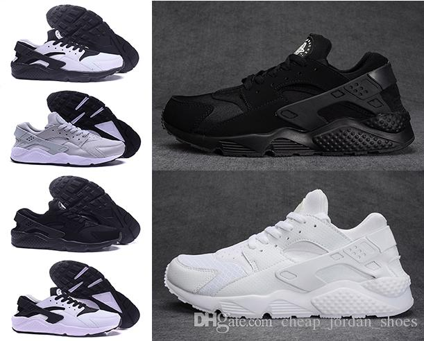 2018 Huarache 1.0 Ultra Classical Triple White And Black Huaraches Shoes  Men And Women Sports Shoes Sneakers Running Shoes 36 45 Trainers Shoes  Woman