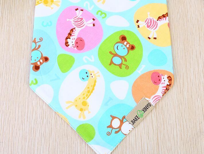 Waterproof babadores Bebés Meninos Meninas toalha de algodão dos desenhos animados do bebê Bandana alimentação babadores recém-nascidos de saliva infantil toalha frete grátis atacado