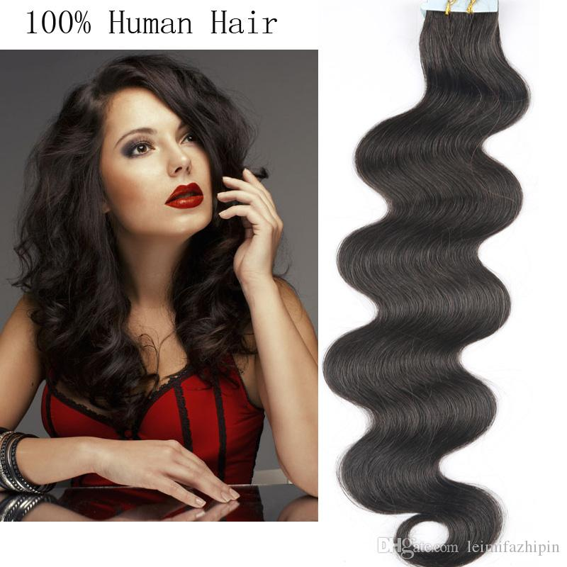 Resika Top Quality Tape Hair Extensions 16 24 Inch Tape In Human