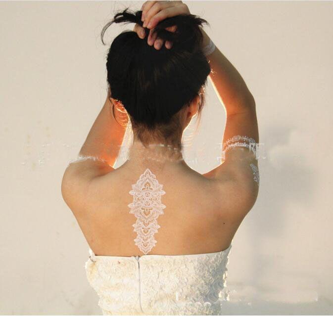 Tatuaggi temporanei impermeabili del tatuaggio delle donne dei tatuaggi del tatuaggio del tatuaggio del hennè dei tatuaggi temporanei bianchi del tatuaggio dell'innamorato
