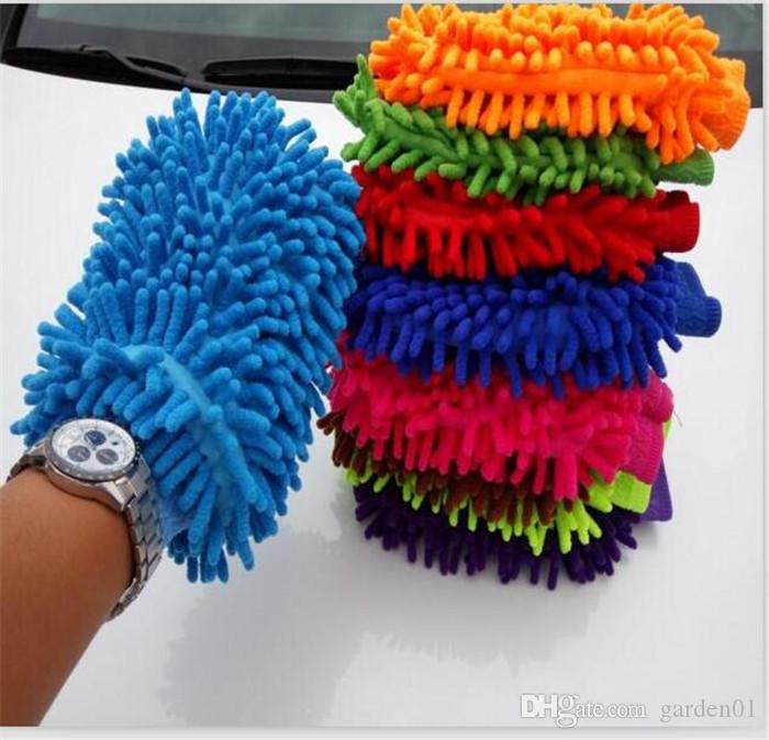 Microfiber Snow Neil fiber high density car wash mitt car wash gloves towel cleaning gloves G041