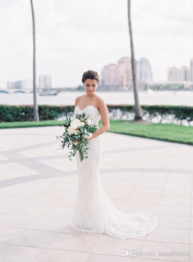 2019 длинные старинные Русалка свадебные платья плюс размер сексуальный полный кружева дешевые спинки милая свадебные платья с поезд платья открытой спиной