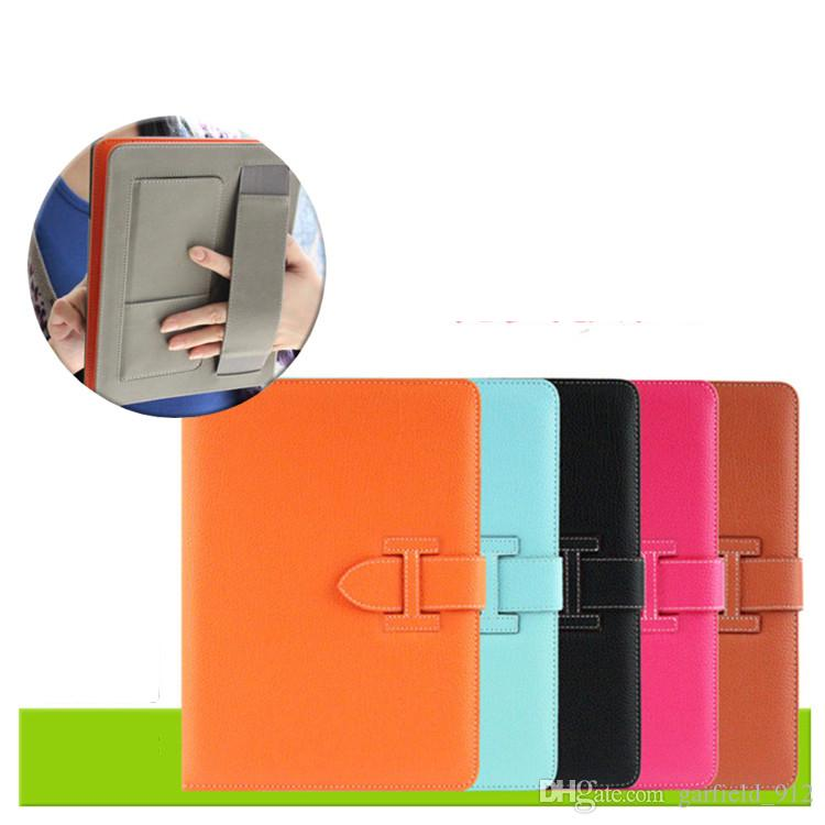 Leather Case for iPad Air Pro and Mini 1 2 3 4 5 6 Retro Briefcase Holder Housing Auto Wake Up and Sleep Bag Flip Cover