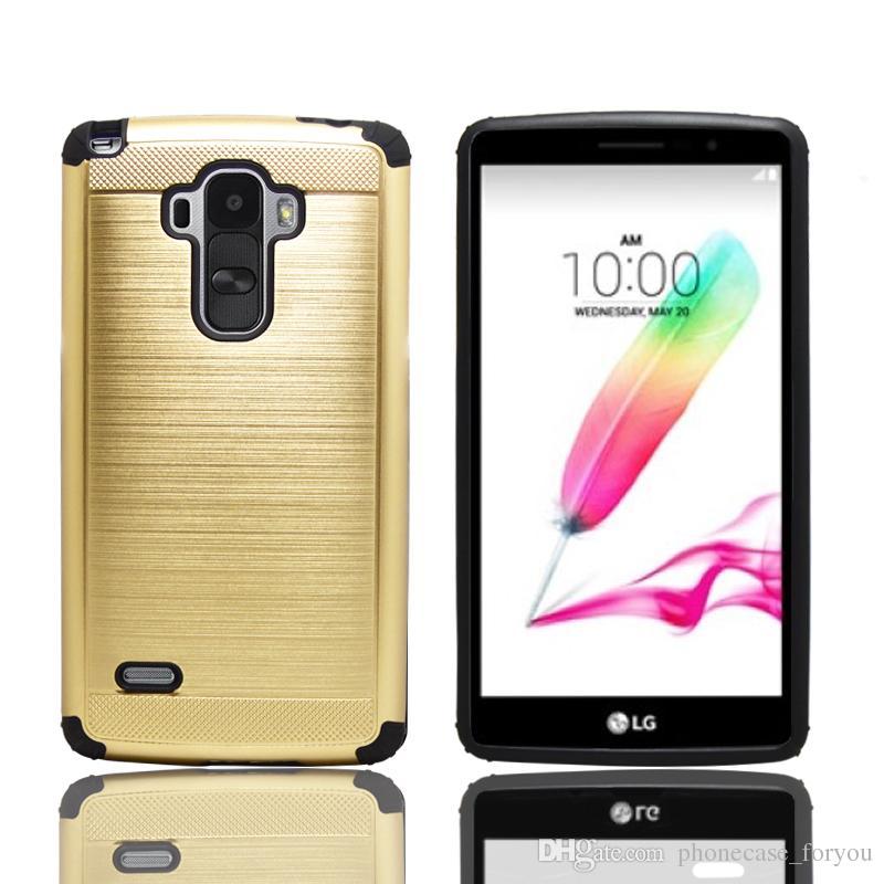 official photos 38fd3 6480d 100 pcs/lot Slim Armor Case For LG G3 G4 G5 G4 STYLUS/LS770 LS775 PLUS  hybrid case Back Silicone Hard Cover Case