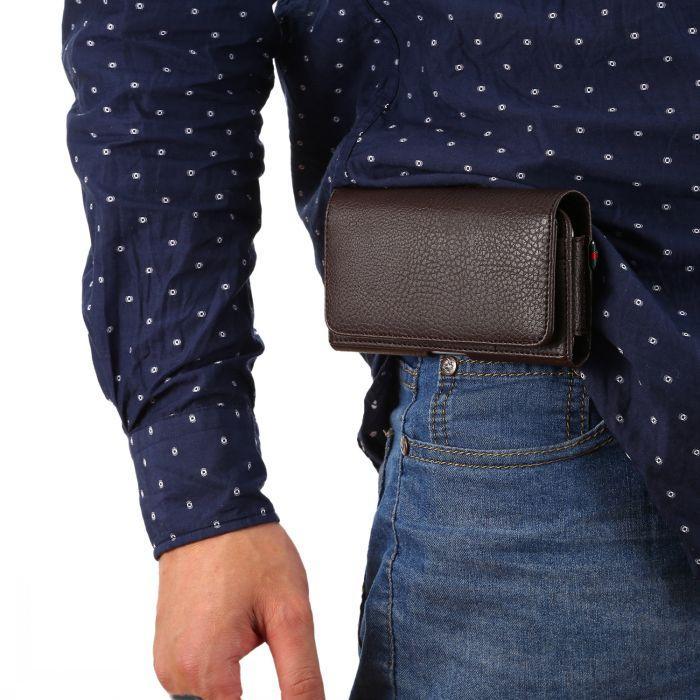 Moda Evrensel PU Deri kılıf Kemer Klipsi telefonu Cüzdan Kılıf Kapak Kılıfı Samsung S6 S7 4.0-6.3 inç