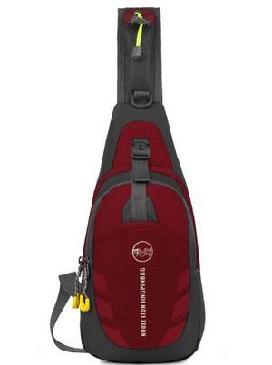 / sacchetto di zaino petto sport esterno impermeabile zaino a tracolla cross body singola borsa a tracolla con cinturino regolabile l'escursionismo in esecuzione