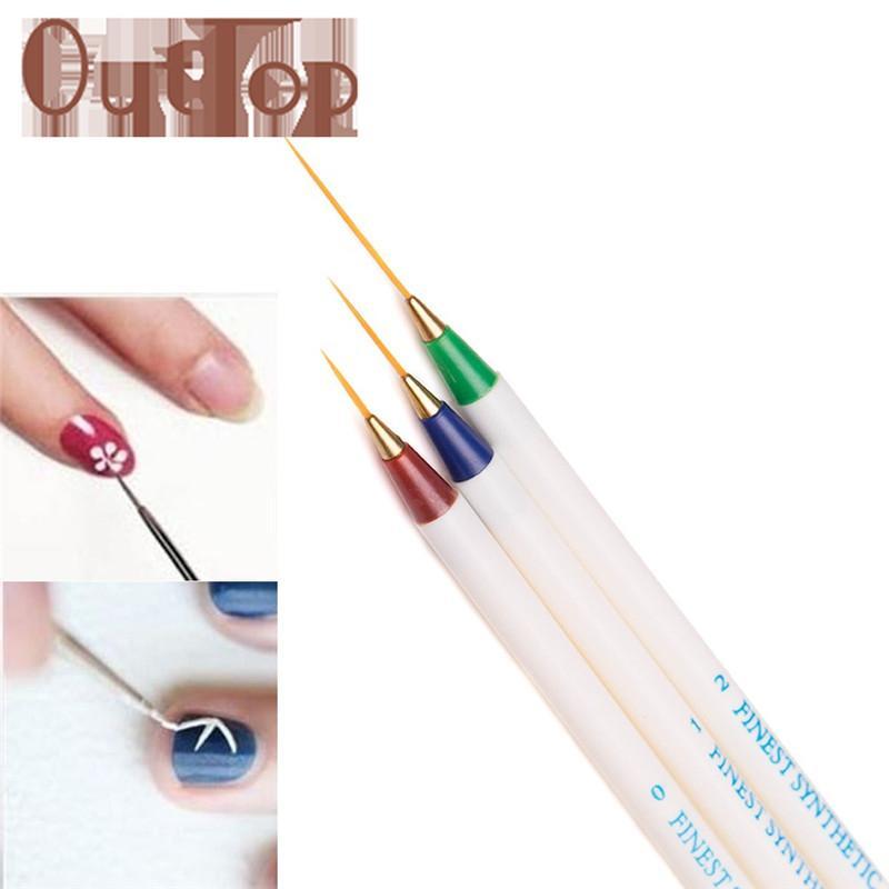 Graceful Nail Art Design Set Dotting Colorful Painting Drawing Brush ...