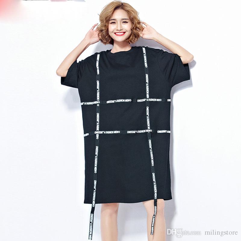 7b000e59fe90 Acquista T Shirt Estate Donna Taglie Forti Con Cinturino In Stile Harajuku  Corea Cotone Donna Moda Casual Femminile Allentate Nuove Topstees A  27.14  Dal ...