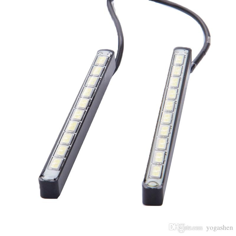 auto DRL led Daytime Running Light impermeabile 7000K-8000K 10 LED 5730 fog dayLight Source Lampada auto Universal Car Strip