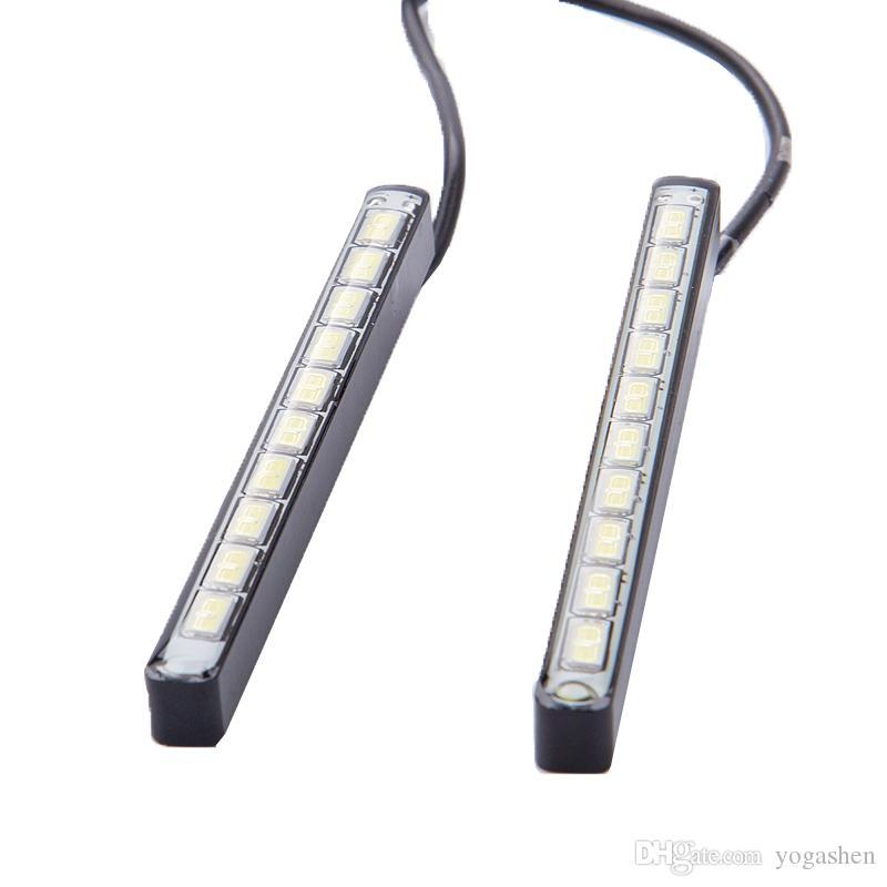 car DRL led Daytime Running Light Waterproof 7000K-8000K 10 LED 5730 fog dayLight Source Auto Lamp For Universal Car Strip