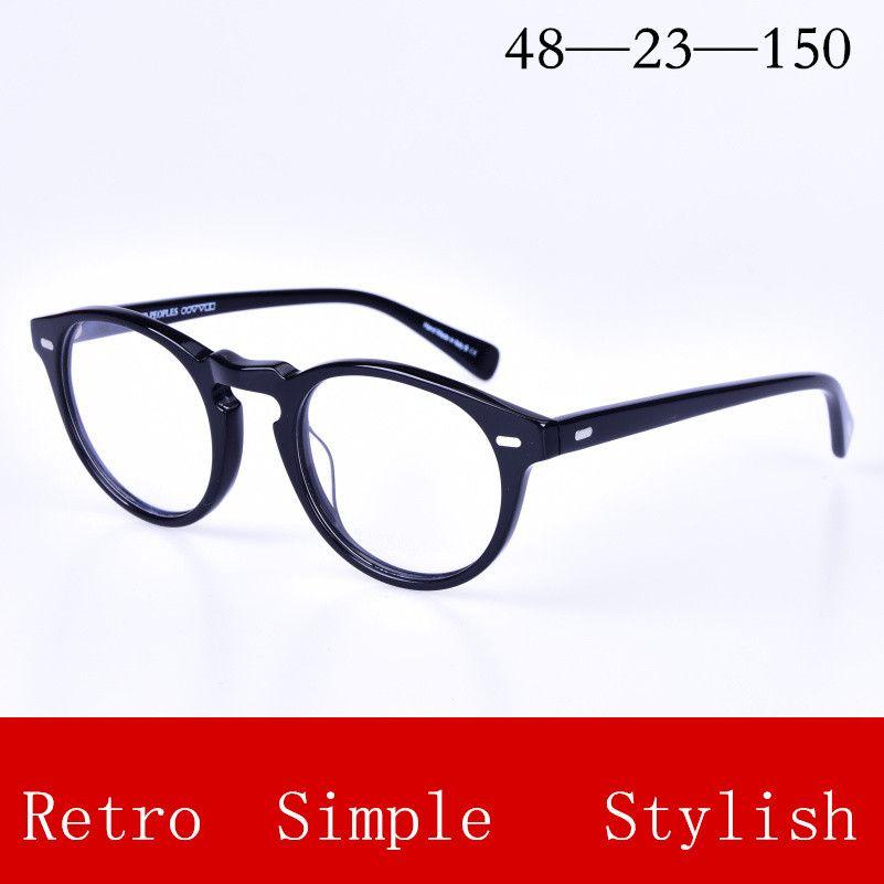 Brillenrahmen Metall Frauen Brillen Rahmen Retro Runde Computer Myopie Klar Optische Myopie Designer Brille Rahmen #58017