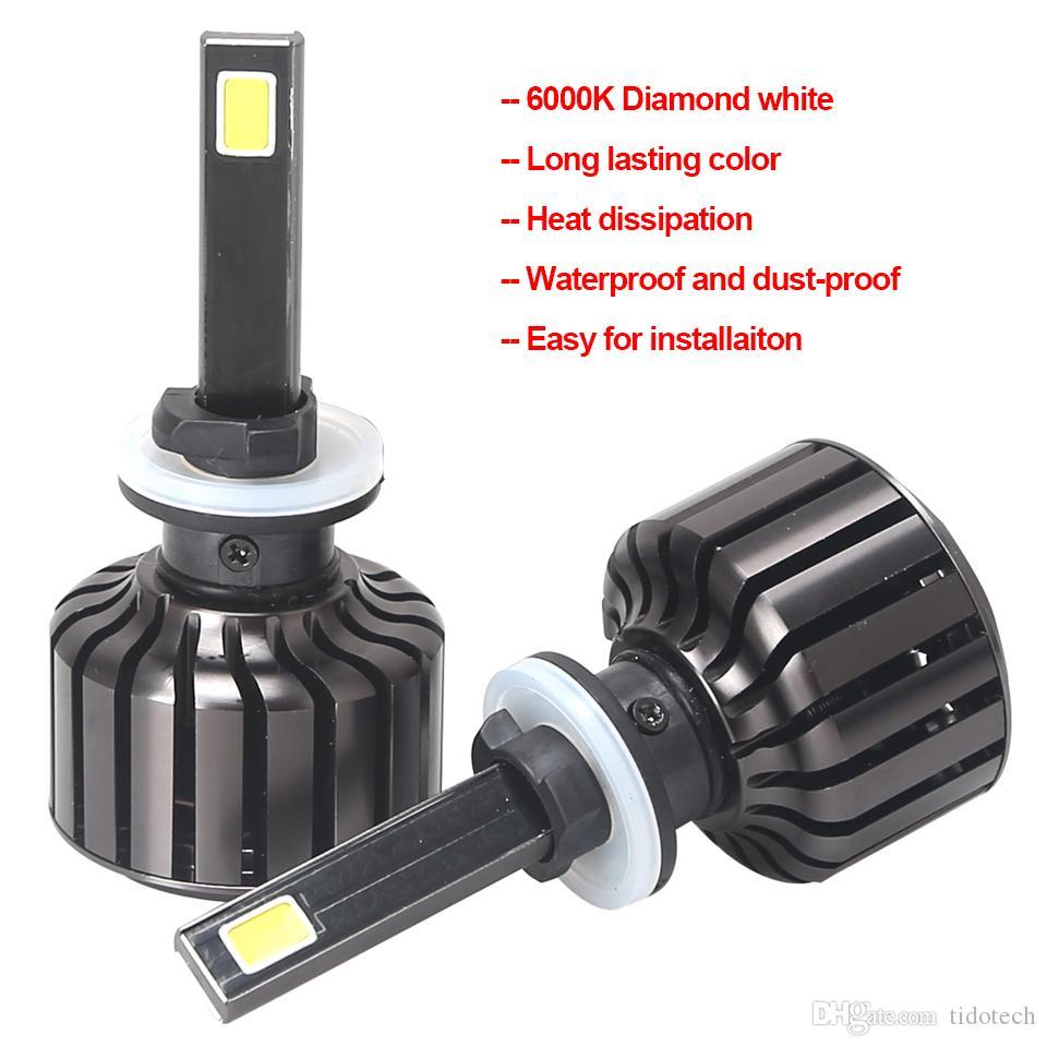 Super Helle 1 Satz 60 Watt 8000LM LED Scheinwerfer Lampen 6000 Karat COB Scheinwerfer Kit C7 für Autos 9 V-36 V
