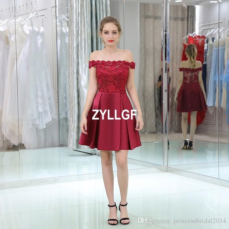 790bf21bd3 Compre 2017 De Alta Calidad Vino Borgoña Sexy Cremallera Off Hombro Prom  Vestidos Estilo Árabe Formal Vestidos Para Las Mujeres A Line Por Encargo A   111.56 ...