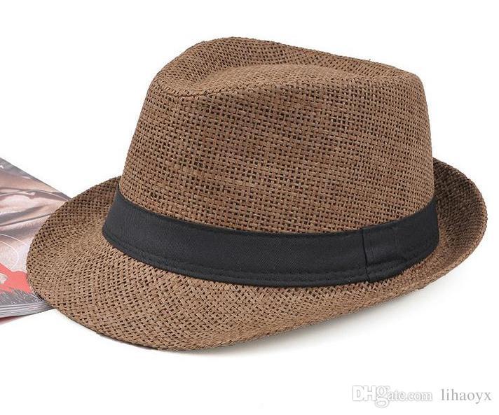 Горячая распродажа 7-цветная мода мужская женская соломенная шляпа мягкий федора Панама шляпа джазовая шляпа M014