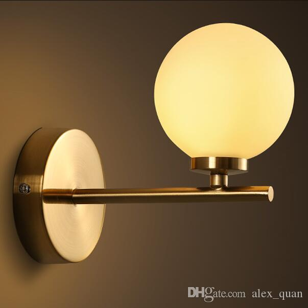 Best New Arrival Led Wall Lamps Bedroom Glass Ball Wall Lights For ...