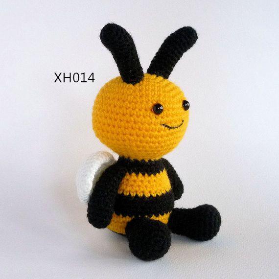 2019 Amigurumi Crochet Toy Bee Plush Bee Bumble Crochet Insect Toy
