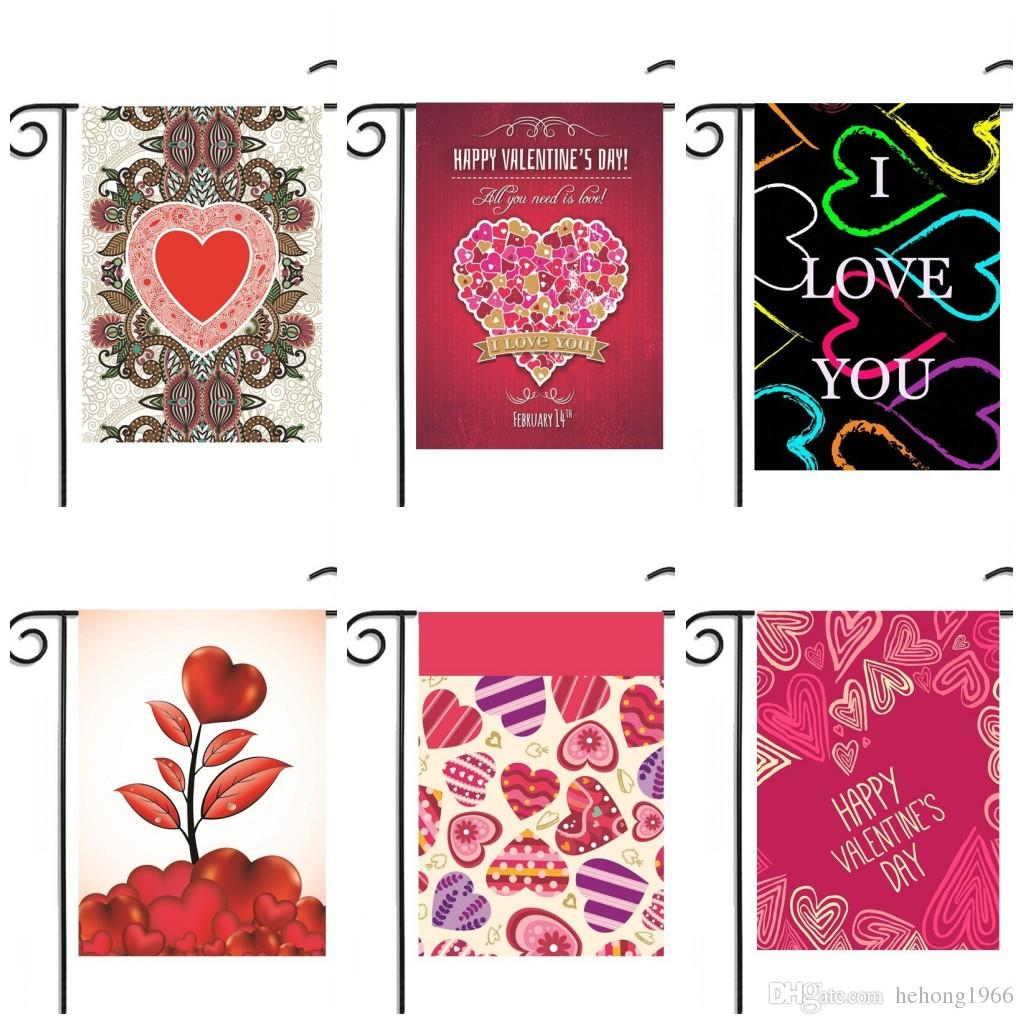 2018 Garden Flag House Decor Outdoor Yard Hanging Flags Happy Valentine Day  Printed Portable Banner No Flagpole Hot 10rjd F R From Hehong1966, ...