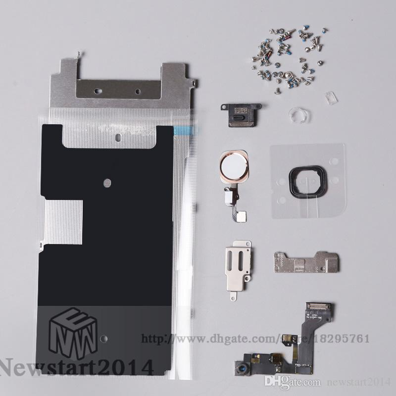 Screen LCD Metal Bracket for Iphone 6S Front Camera Home Button Flex Cable Earpiece Sets Screws Small Parts Replacement for Iphone 6S 4.7