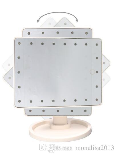 جديد 360 درجة دوران الشاشات التي تعمل باللمس يشكلون مرآة التجميل قابلة للطي المحمولة المدمجة الجيب مع 16/22 الصمام الاضواء أداة ماكياج