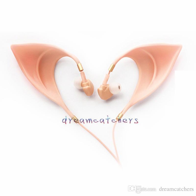 3.5mm Auriculares 엘프 귀에 헤드폰 울트라 소프트 코스프레 스피릿 이어폰 아이폰 삼성 전자에 대한 요정 HIFI 이어폰 이어폰 헤드셋