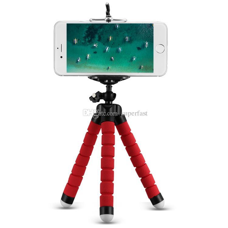 Support de téléphone trépied flexible support de support universel pour téléphone portable caméra de voiture Selfie Monopod avec Bluetooth déclencheur à distance