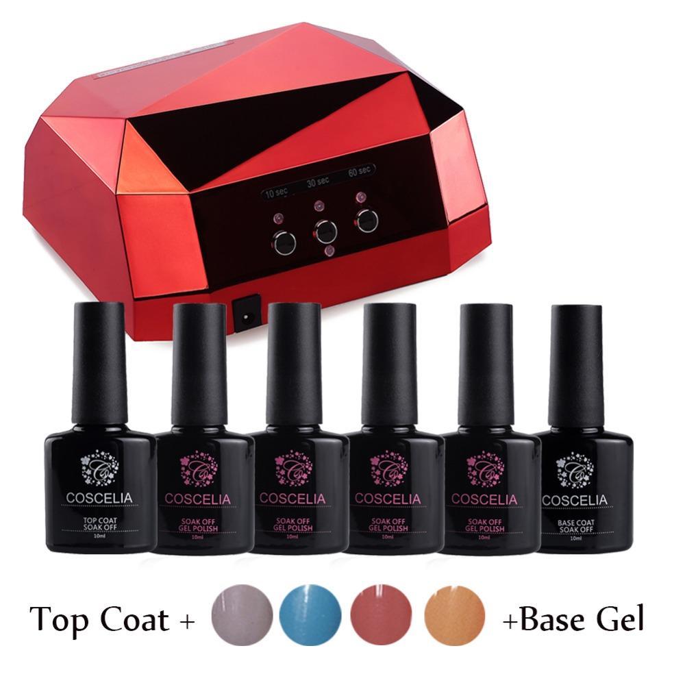 Wholesale 4x10ml Kit Nail Gel Manicure Set Gel Nail Polish Set With ...