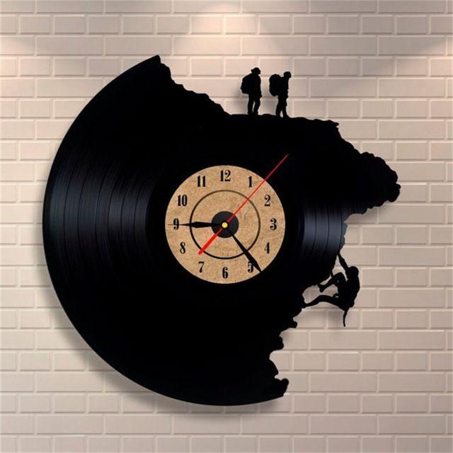 Wholesale Large Decorative Wall Clocks Vinyl Record Clock Climbing Shape 3d  Acrylic Art Watch Antique Style Quartz Clock Mechanism Needle Modern  Kitchen ...
