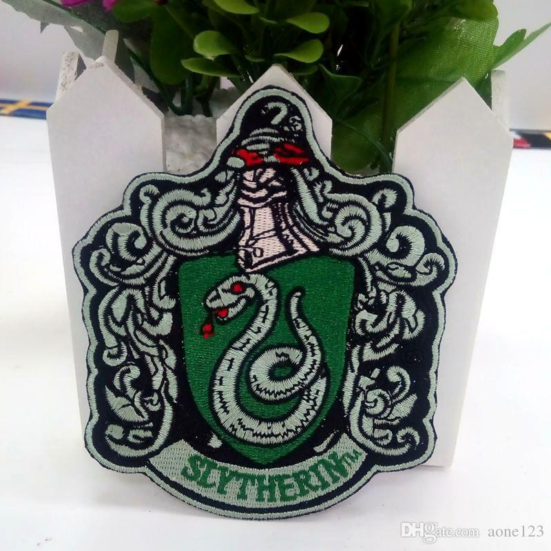 "HARRY POTTER ""SLYTHERIN"" EXTRA LARGE Embroidered Robe iron on Patch For Clothes Patches Stickers Apparel Accessories"
