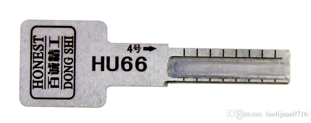 HONEST HU66 Car Auto Key Profile Mould for Key Copy Duplicate Locksmith Tool Lock Opening Tools