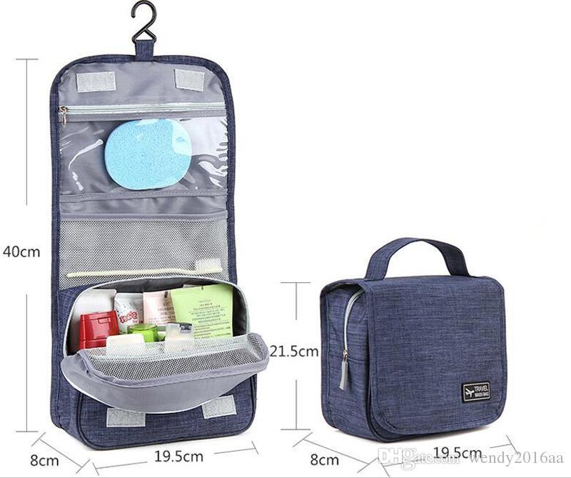 2017 새로운 여성의 옥스포드 화장품 가방 인기있는 Stylylish 세면 용품 키트 야외 여행을위한 메이크업 가방 6 색