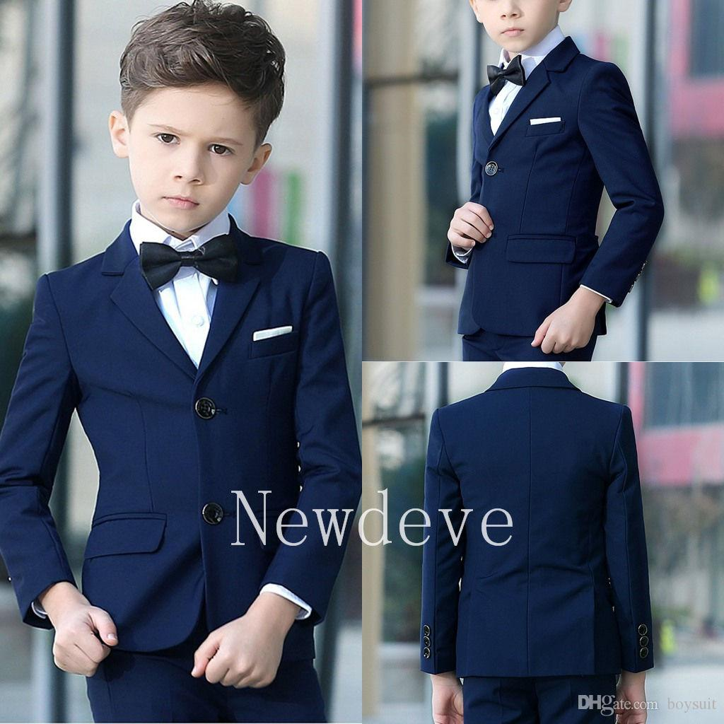2018 navy blue boys suit wedding guest suit prom baby