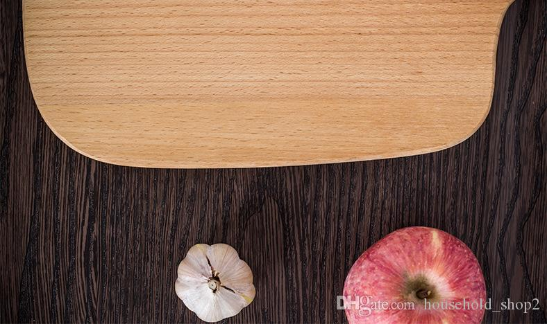 Home Wooden Cutting Board Kitchen Chopping Block Wood Cake Sushi Plate Serving Trays Bread Fruit Pizza Tray Baking Tool