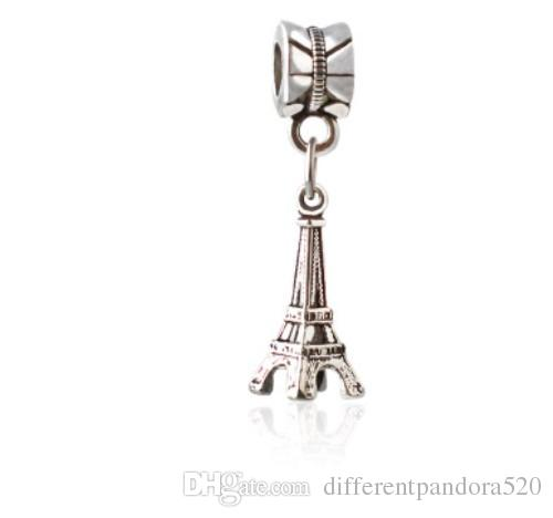 c2b8d49a8 2019 Fit Pandora Charm Bracelet European Silver Bead Charms Paris Eiffel  Tower Pendant Beads DIY Snake Chain For Women Bangle & Necklace Jewelry  From ...