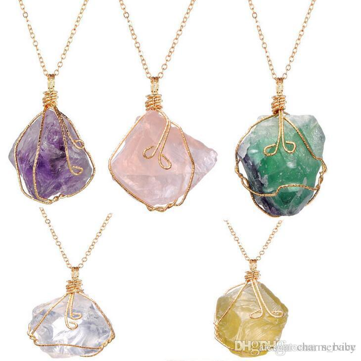 Wholesale Mixes Color Natural Stone Jewelry Ore Irregular Amethyst ...