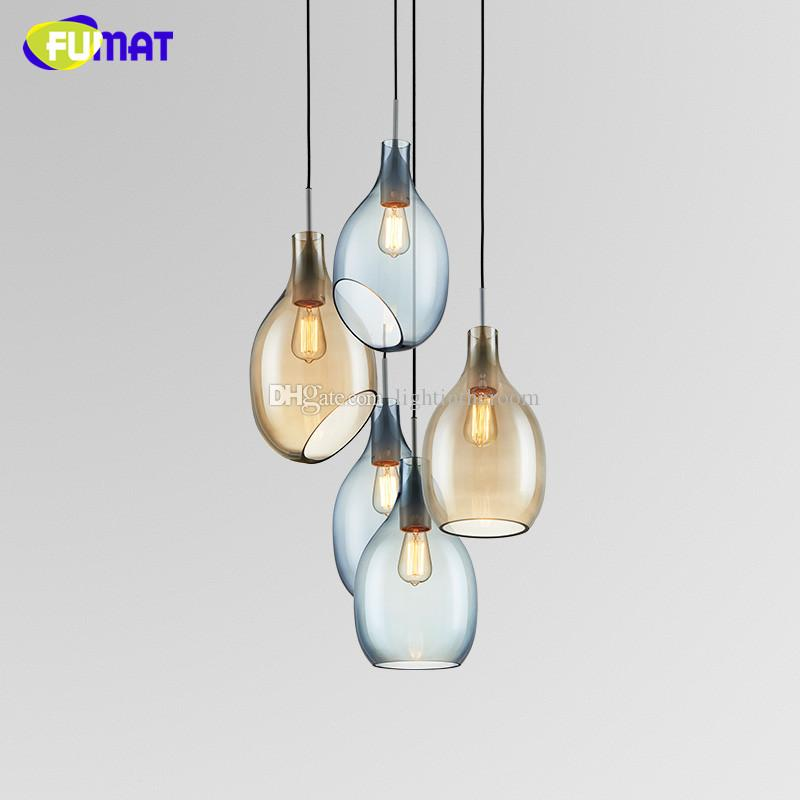 Fumat simple modern nordic glass hanging light designer glass fumat simple modern nordic glass hanging light designer glass pendant lamp for dinning room light flush ceiling lights glass pendant lights from aloadofball