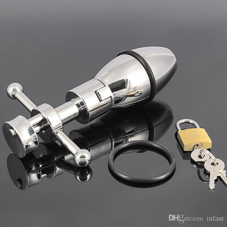 sex doll,A050 stainless steel, opening and closing the court bolt, G point anal daisy plug,small male chastity device,adult toys