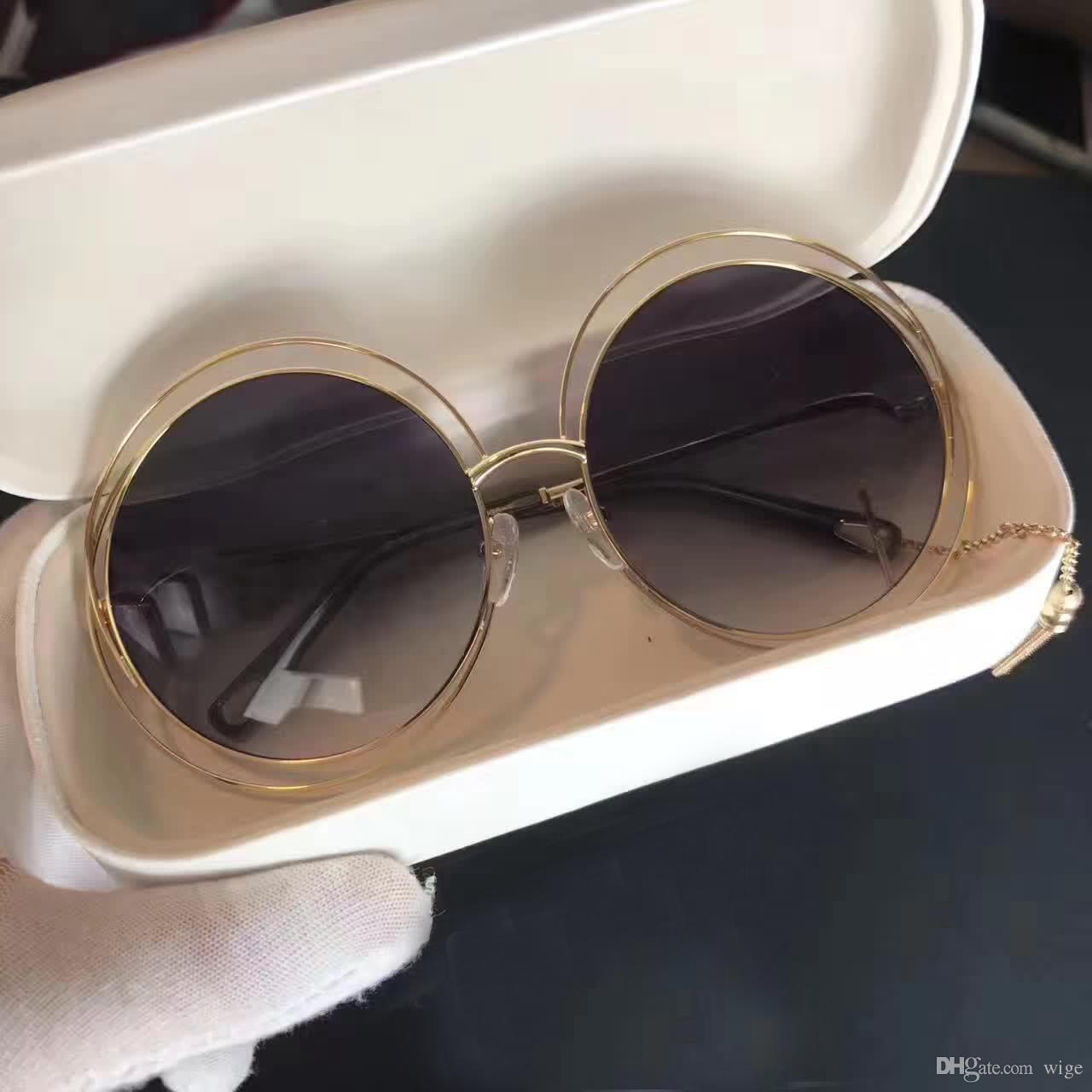 f32869b9f59 Women Designer Round CE 138S Sunglasses Gold Transparent Light Grey Brand  Sunglasses Oculos De Sol Feminino New With Box Tifosi Sunglasses Cheap  Eyeglasses ...