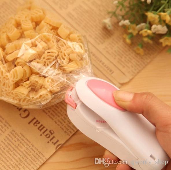 Vakum Gıda Mühürleyen Mini Taşınabilir Isı Yapıştırma Makinesi Darbe çanta Mühürleyen Mühür Makinesi Poli Boru Plastik Torba Mühürleme Makinesi